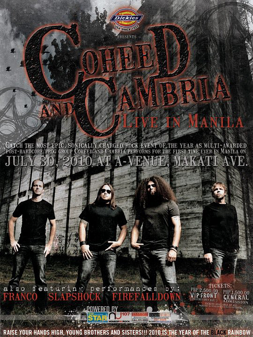 COHEED AND CAMBRIA LIVE IN MANILA - PULP Live World