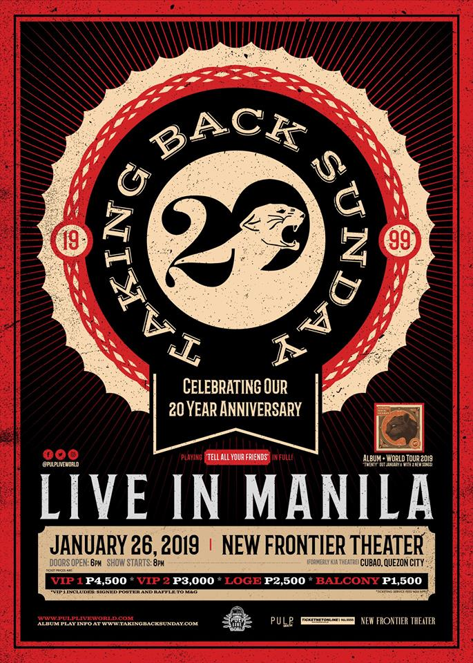 taking back sunday manila